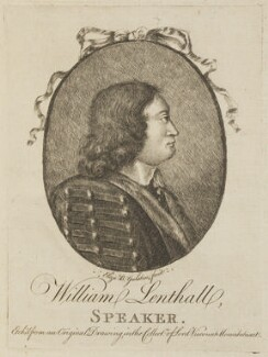 William Lenthall, by Elizabeth Bridgetta Gulston (née Stepney) - NPG D13910
