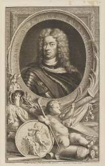John Churchill, 1st Duke of Marlborough, by Jacobus Houbraken, published by  John & Paul Knapton, after  Sir Godfrey Kneller, Bt - NPG D13913
