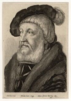 Probably Sir William Butts, by Wenceslaus Hollar, published by  Adam Alexius Bierling, after  Hans Holbein the Younger - NPG D17892