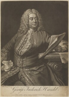 George Frideric Handel, by and sold by John Faber Jr, after  Thomas Hudson - NPG D13865