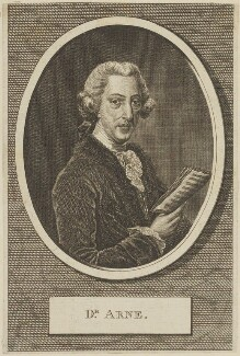Thomas Augustine Arne, after Robert Dunkarton - NPG D13867