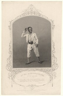 Ira Aldridge as Mungo in 'The Padlock', by T. Hollis, published by  John Tallis & Company, after  William Paine - NPG D17895