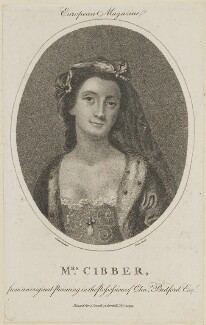 Susannah Maria Cibber (née Arne), by Fairn, published by  John Sewell, probably after  John Giles Eccardt - NPG D13868