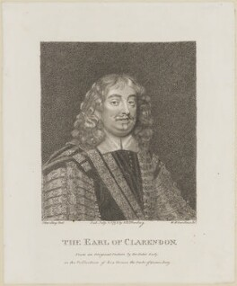 Edward Hyde, 1st Earl of Clarendon, by William Nelson Gardiner, published by  E. & S. Harding, after  Silvester (Sylvester) Harding, after  Sir Peter Lely - NPG D13877
