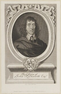 John Rushworth, by T. Berry, published by  Thomas Rodd the Younger, published by  Horatio Rodd, after  Robert White - NPG D13878