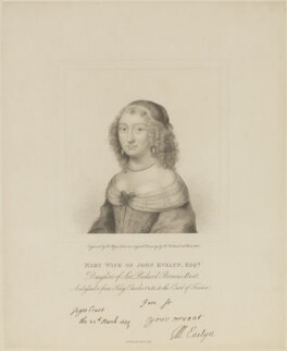 Mary Evelyn (née Browne), by Henry Meyer, after  Robert Nanteuil, published 1 February 1818 (1650) - NPG D13881 - © National Portrait Gallery, London