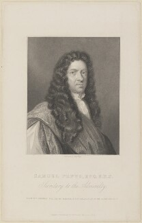 Samuel Pepys, by Charles Wentworth Wass, published by  Richard Bentley, after  Robert Walker - NPG D13885