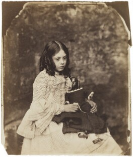 Ina Liddell, by Lewis Carroll (Charles Lutwidge Dodgson), Summer 1858 - NPG P991(2) - © National Portrait Gallery, London
