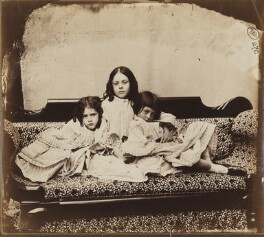 Edith Mary Liddell; Ina Liddell; Alice Liddell, by Lewis Carroll (Charles Lutwidge Dodgson), Summer 1858 - NPG P991(4) - © National Portrait Gallery, London and the National Media Museum (part of the Science Museum Group, London)