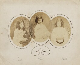 Ina Liddell; Alice Liddell; Edith Mary Liddell, by Lewis Carroll (Charles Lutwidge Dodgson), 1858-1860 - NPG P991(10) - © National Portrait Gallery, London and the National Media Museum (part of the Science Museum Group, London)