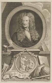 Sir Isaac Newton, by Jacobus Houbraken, after  Sir Godfrey Kneller, Bt - NPG D13924
