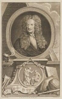 Sir Isaac Newton, by Jacobus Houbraken, after  Sir Godfrey Kneller, Bt - NPG D13924