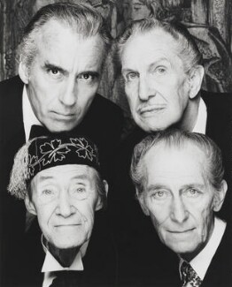 The Four Kings of Horror (Christopher Lee; Vincent Price; John Carradine; Peter Cushing), by Terry O'Neill - NPG x28064