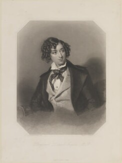 Benjamin Disraeli, Earl of Beaconsfield, by John Henry Robinson, after  Alfred Edward Chalon, (1840) - NPG D13928 - © National Portrait Gallery, London