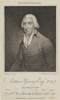 Arthur Young, by W. Hinton, published by  John Sewell, after  John Rising - NPG D13943