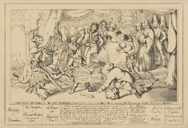 The Grand Coronation of Her Most Graceless Majesty C-R-L--E Columbina the first Queen of all the Radicals &c &c &c July 19th 1821, attributed to Theodore Lane, published by  George Humphrey - NPG D17901