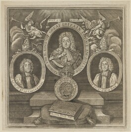 John Potter; King George II; Thomas Herring, by Unknown engraver - NPG D13952