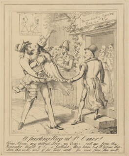 A parting Hug at St Omer!, attributed to Theodore Lane, published by  George Humphrey - NPG D17904b
