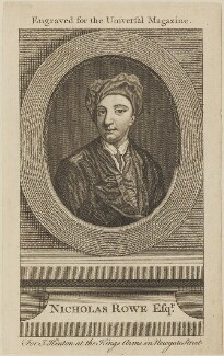 Nicholas Rowe, published by John Hinton - NPG D13957