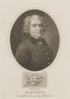 Pierre Carlet de Chamblain de Marivaux, by R. Page, published by  G. Jones - NPG D13961