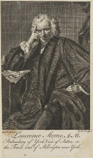 Laurence Sterne, by H.P., after  Sir Joshua Reynolds - NPG D13966