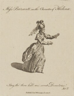 Jenny Barsanti (Jane Barsanti), by Charles Grignion, published by  Joseph Wenman, after  James Roberts - NPG D13969