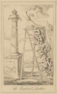 The Radical Ladder (Caroline Amelia Elizabeth of Brunswick), published by George Humphrey, after  George Cruikshank - NPG D17913