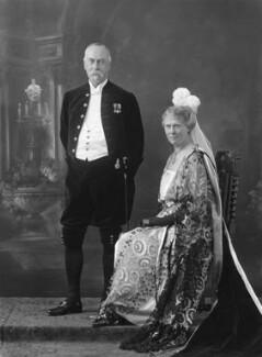 Sir Reginald Theodore Blomfield; (Anne) Frances May Blomfield (née Burra), by Bassano Ltd - NPG x18805