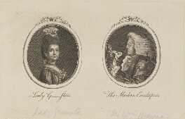 'Lady G-ston and The Modern Esculapius' (Lady Grimston; Sir William Browne), by Unknown artist - NPG D13972