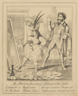 The Modern Genius of History at her Toilet, attributed to Theodore Lane, published by  George Humphrey - NPG D17917a