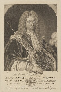 Robert Harley, 1st Earl of Oxford, by George Vertue, after  Sir Godfrey Kneller, Bt - NPG D13975