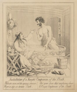 Installation of a Knight Companion of the Bath, attributed to Theodore Lane, published by  George Humphrey - NPG D17918a