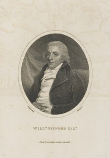 William Gifford, by William Ridley, published by  Vernor & Hood, after  John Hoppner - NPG D13980