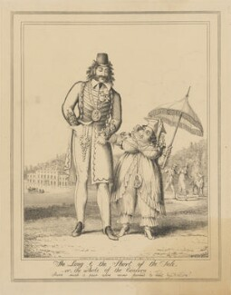 The Long & the Short of the Tale, -or-, the whole of the Concern, attributed to Theodore Lane, published by  George Humphrey, published 1 January 1821 - NPG D17924a - © National Portrait Gallery, London