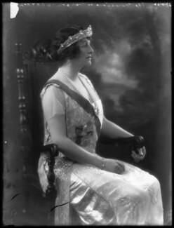 Grace Elvina Curzon (née Hinds), Marchioness Curzon of Kedleston, by Bassano Ltd - NPG x37273