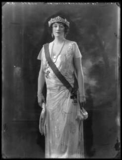 Grace Elvina Curzon (née Hinds), Marchioness Curzon of Kedleston, by Bassano Ltd - NPG x37274