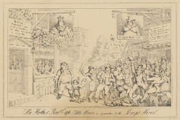 The Mother Red-Cap Public House, in opposition to the King's Head (King George IV; Caroline Amelia Elizabeth of Brunswick), attributed to Theodore Lane, published by  George Humphrey - NPG D17926