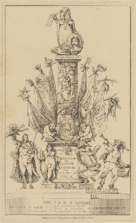 The C-R-L--E Column (Sir Matthew Wood, 1st Bt; Caroline Amelia Elizabeth of Brunswick; Bartolomeo Pergami), attributed to Theodore Lane, published by  George Humphrey - NPG D17929