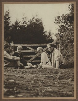 Noel Olivier; Maitland Radford; Virginia Woolf; Rupert Brooke, by Unknown photographer, 1911 - NPG x13124 - © National Portrait Gallery, London