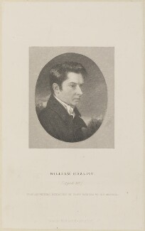 William Hazlitt, published by Richard Bentley, after  John Hazlitt - NPG D13984