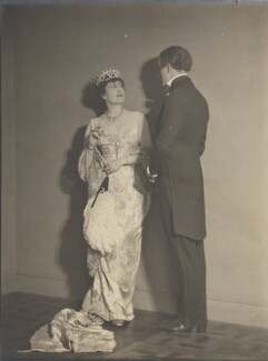 Constance Collier as The Duchess of Towers and Basil Rathbone as Peter in 'Peter Ibbetson', by Howard Instead - NPG Ax24984
