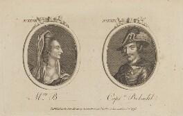 'Mrs B- and Captn. Bobadil' (George Anne Bellamy; Henry Woodward), published by Archibald Hamilton Jr - NPG D13996