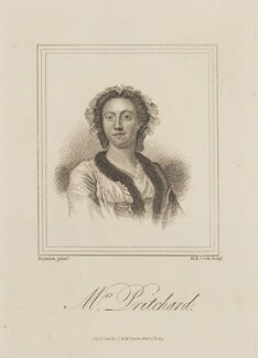 Hannah Pritchard (née Vaughan), by Henry Richard Cook, published by  I.W.H. Payne, after  Francis Hayman - NPG D13999