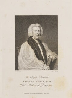 Thomas Percy, by John Ogborne, published by  Silvester Harding, after  Lemuel Francis Abbott - NPG D14010