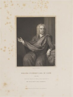 William Pulteney, 1st Earl of Bath, by William Henry Mote, published by  Harding & Lepard, after  Charles Jervas - NPG D14019