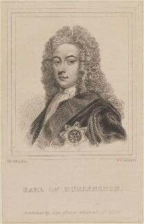 Richard Boyle, 3rd Earl of Burlington and 4th Earl of Cork, by William Camden Edwards, published by  John Samuel Murray, after  Sir Godfrey Kneller, Bt - NPG D14042