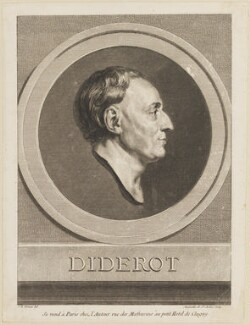 Denis Diderot, by Augustin de Saint-Aubin, after  Jean-Baptiste Greuze - NPG D14045