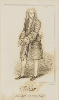 Colley Cibber, by Thomas Priscott, published by  C. Dyer, after  Hubert-François Gravelot (né Bourguignon) - NPG D14046