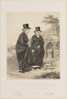 'The Ladies of Llangollen' (Lady (Charlotte) Eleanor Butler; Sarah Ponsonby), by James Henry Lynch, printed by  Day & Haghe - NPG D14047