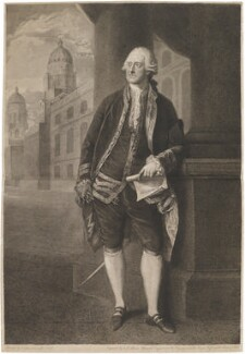 John Montagu, 4th Earl of Sandwich, by and published by John Keyse Sherwin, after  Thomas Gainsborough - NPG D14062